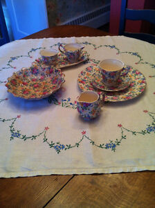 COLLECTION OF CHINTZ, ROSALYNDE PATTERN