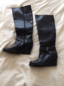 Tall Wide Calf Leather Boots  Kingston Kingston Area image 2