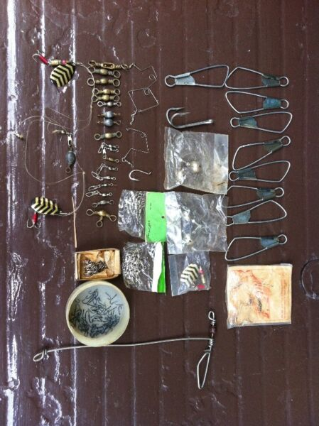 Assorted fishing gears.