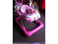 GRACO Pink car baby walker. GRACO Pink baby swing
