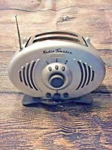 RETRO  KENWOOD BRUSHED STEEL LOOK FM RADIO TOASTER