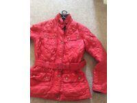 Ladies red Barbour jacket