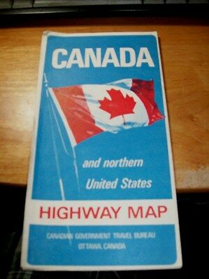 Nice Vintage 1967 CANADA & Northern US Highway Map