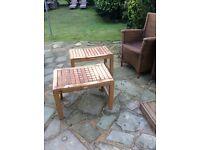 Pair of oak tables