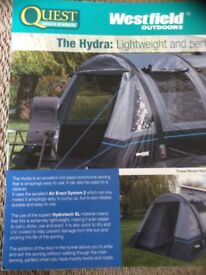 Drive away inflatable air awning