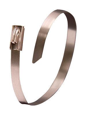 Gardner Bender Stainless Steel 6 In. L Silver Cable Tie 10 Pk