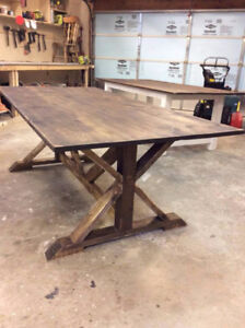 Rustic Trestle Table- New!