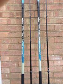 Fishing rods x2 (Daiwa awb 129 )