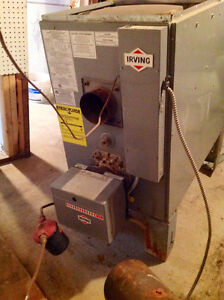 Forced air oil furnace