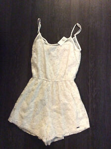 Brand New white Lace Hollister Romper