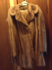 Mink short coat and mink stole