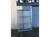 Steel wire panels, and heavy duty gate