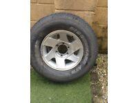 New discoverer tyre on alloy rim
