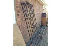 Tall Wrought Iron Gate, side piece and posts