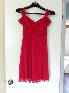 David's bridal red dress