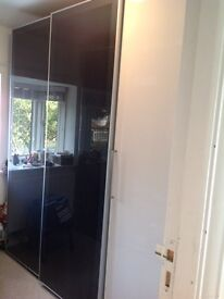 Ikea pax wardrobe with glass sliding doors.MUST GO THIS WEEK!!!!!!