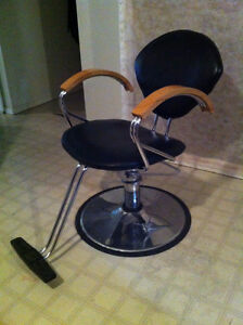 Hairdressing styling chair with hydraulic lift for sale