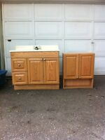 Vanity and cabinet