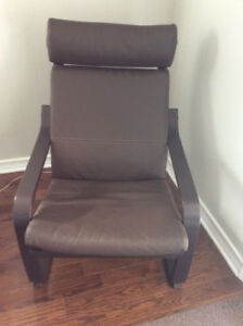 BROWN LEATHER. CHAIR