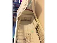 I love my bear swinging crib bedding set