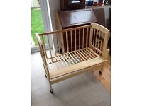 Co-sleeping bedside cot (still available for sale)