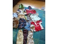 Selection of clothes , Ralph Loren shirt. Eden park top.