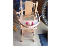 1970sdolls high chair
