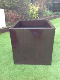 Bronze zinc galvanised jumbo 60cm cube planter