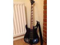 left handed jackson dinky guitar black £200 ono
