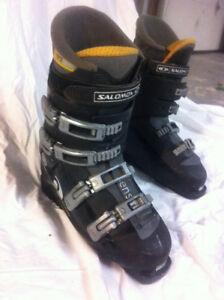 Salomon Alpine Boots, Skis and Scott Poles