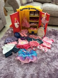 Build a bear huge bundle including wardrobe, clothes and accessories