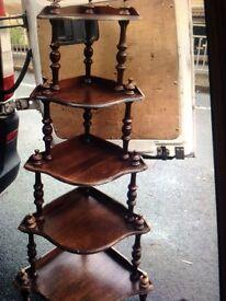 Vintage oak whatnot shelf. £12