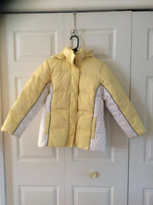 Good Quality Yellow and White Girl's Winter Jacket