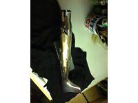 Custom fish tail silencer,
