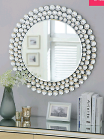 New Julien McDonald Large Signature Crystal Wall Mirror
