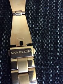 Genuine Michael Corrs rose gold watch strap
