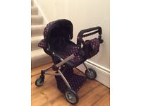 Molly Dolly Babyboo Deluxe Twin Double 2 in 1 Doll Stroller Buggy Pram