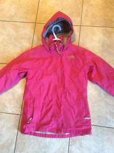 Girl's pink Nortface rain/wind jacket size L