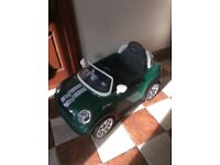 Child's Mini Cooper forward and reverse gear little used full working order