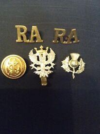 Vintage military badges