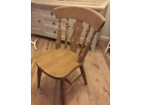 Solid pine chair - dinning set or individually