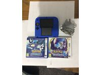 Nintendo 2ds with 2 latest games