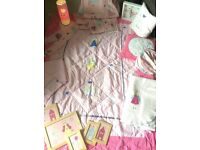 Laura Ashley girls bedroom, linen and curtain bundle (Fun Fairies) 10x pieces!