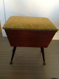 Retro sewing box. Vintage