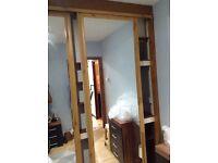Sliding wardrobe door with mirror in mint condition