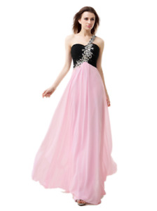 Selling a beautiful Prom Dress Black and Pink Beaded