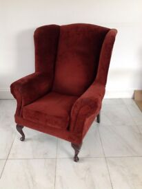 Large High Back Fireside Chair
