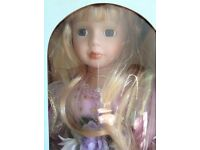 Boxed porcelain fairy doll