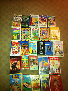 French Children's VHS tapes