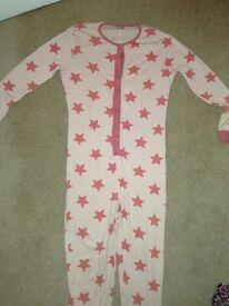 Girls star patterned onesie